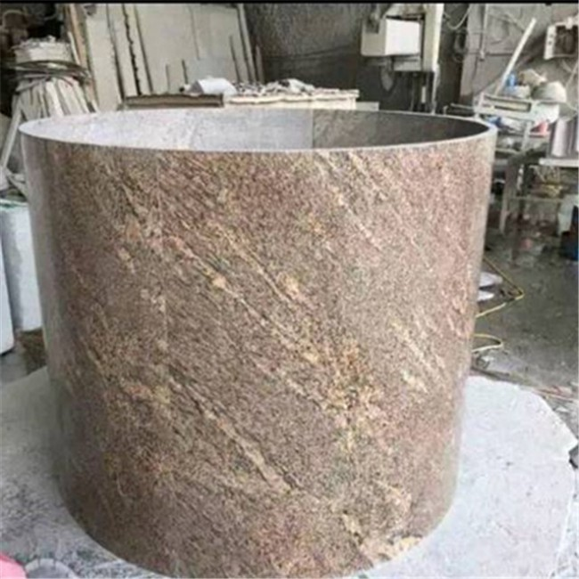 Giallo california granite hollow column