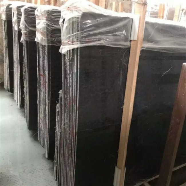 Dyed black granite