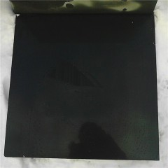 Polished Mongolian black  granite tiles for wall cladding