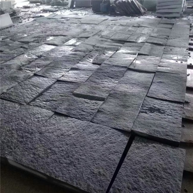 Sesame black  granite pool coping