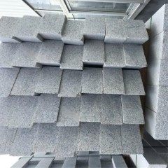G602 light grey granite road kerb