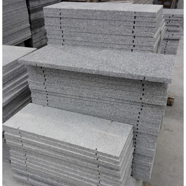 Flamed silver grey  granite exterior wall panels