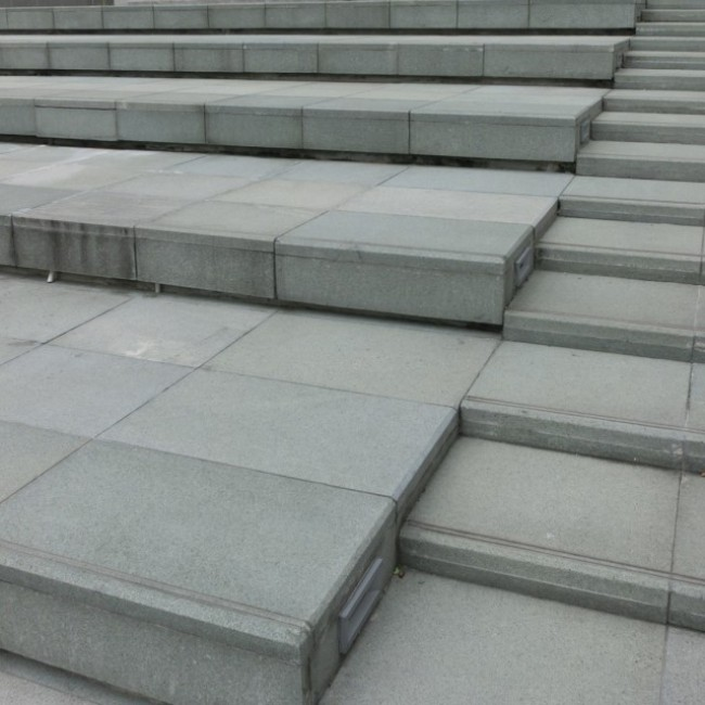 G603 white granite outdoor stair steps