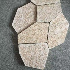 China yellow  granite crazy paving stone