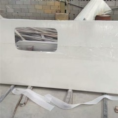 White marble prefabricated bathroom  countertop