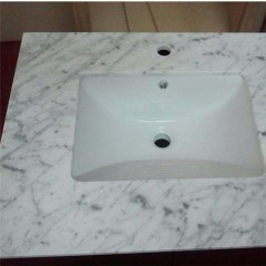 Guangxi white marble vanity top