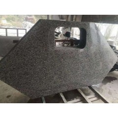 Hexagon nero impala granite kitchen countertops