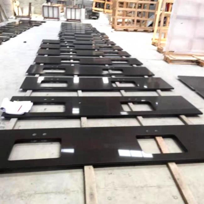 Polished Shanxi black  granite kitchen  countertop