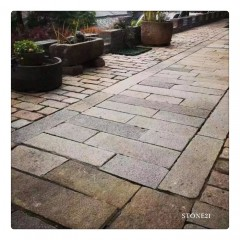 Old stone paver, garden step stone