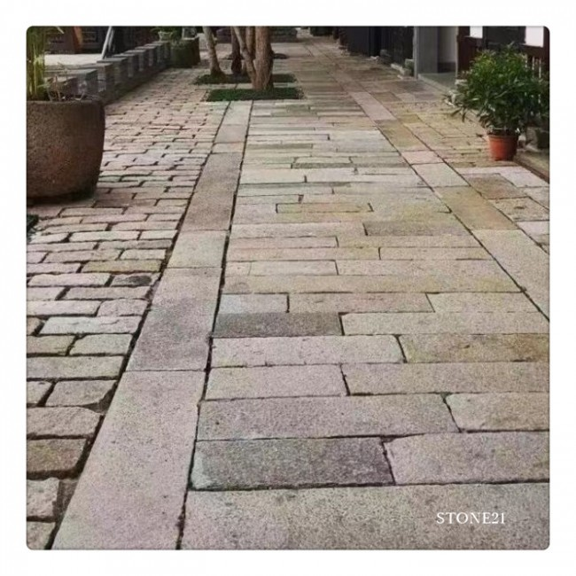 Old stone paver, garden step stone