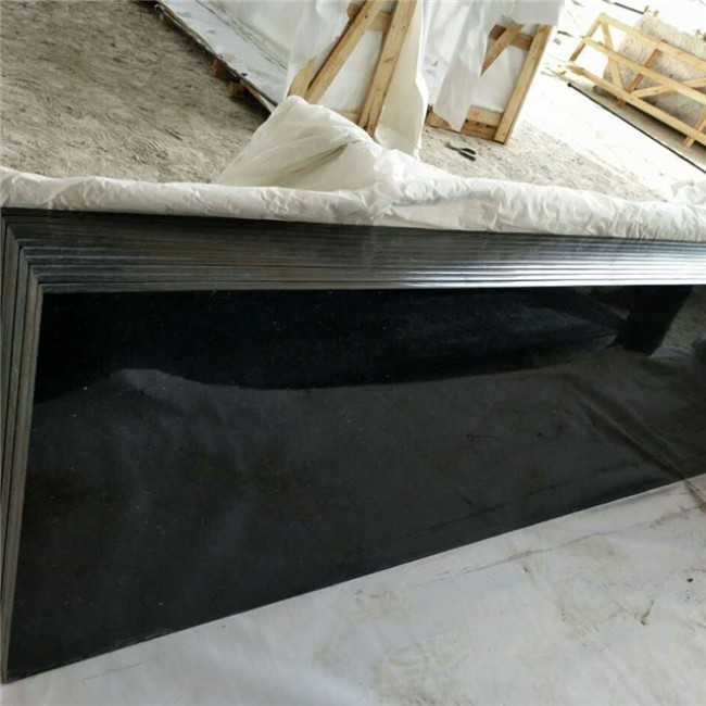 Black galaxy granite countertop slabs