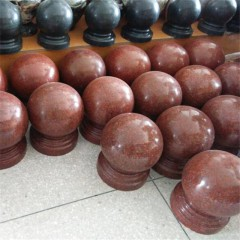 Imperial red granite stone ball