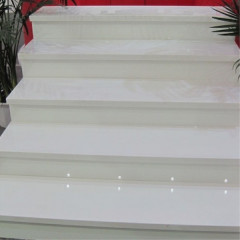 Snow white quartz stair steps