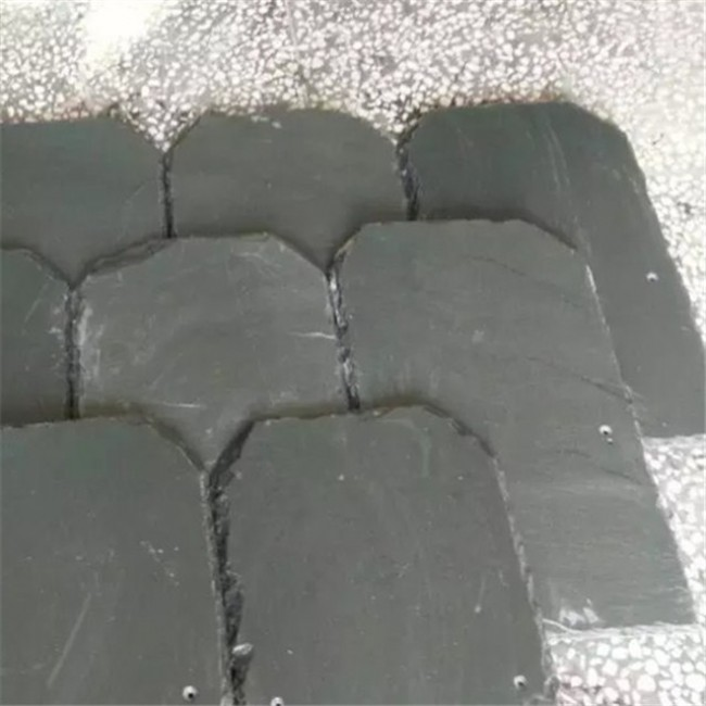 Natural black roof slate fish scale roofing slate