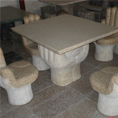 G682 granite stone garden table and chair