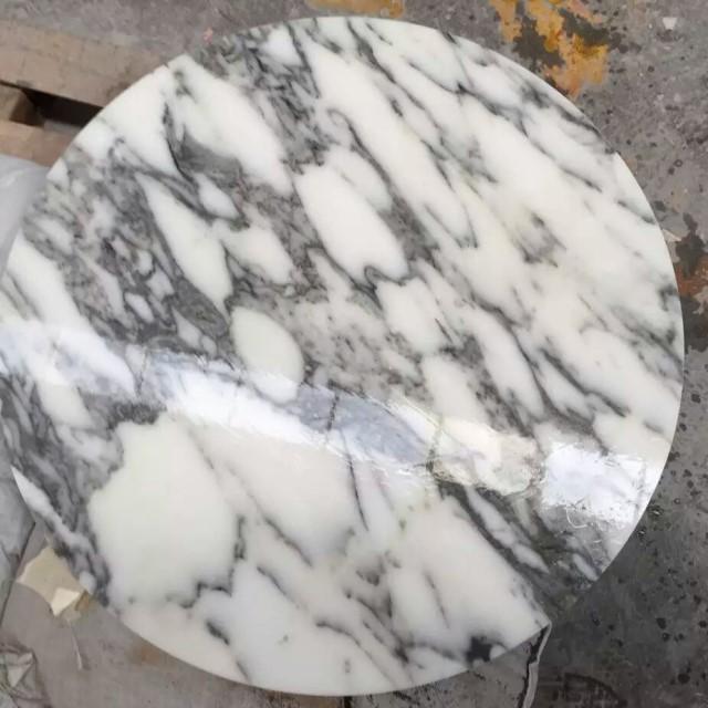 Arabescato white Marble round tiles