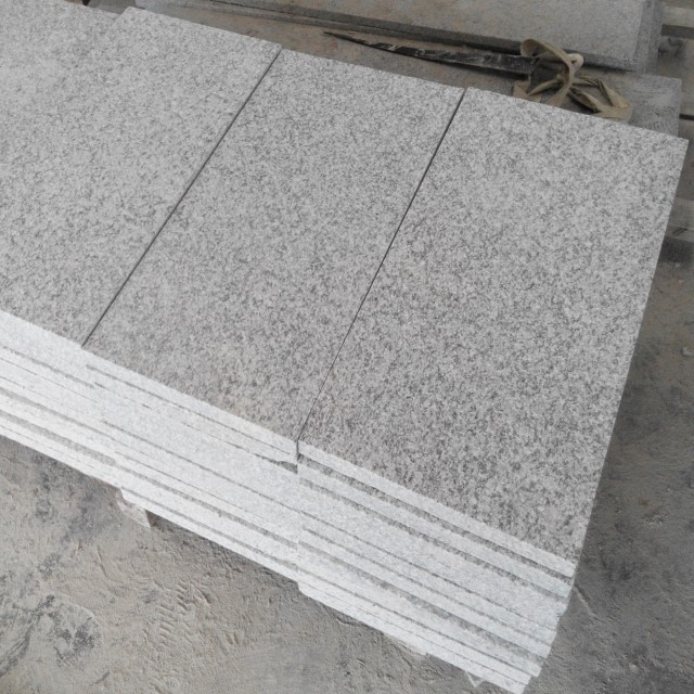 flamed silver grey granite