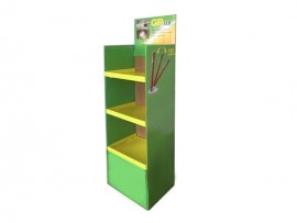 3 -Tiers Retail Shop Supply Foldable Cardboard Displays