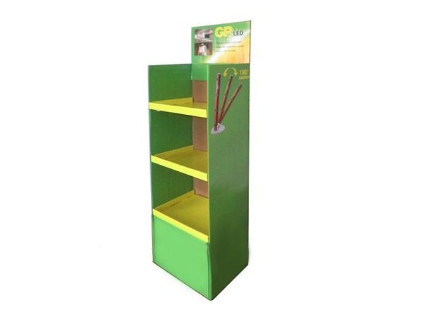 3 -Tiers Retail Shop Supply Foldable Cardboard Displays