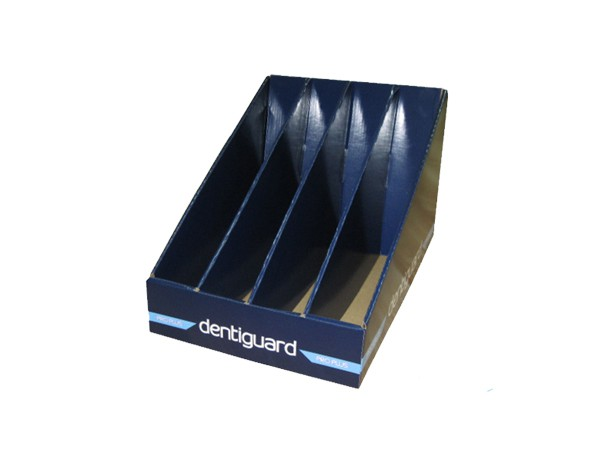 File cardboard display stand for