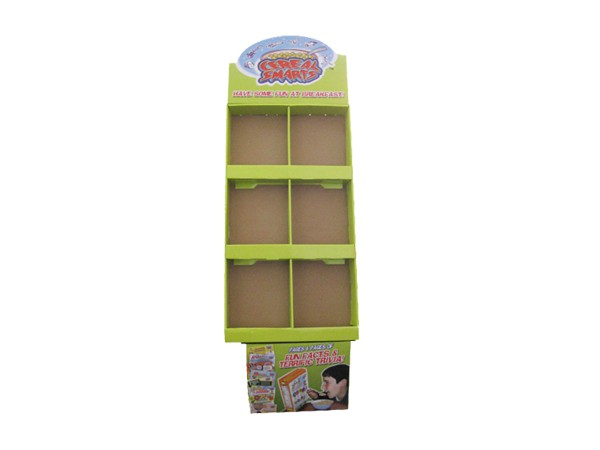 6 Pockets Flooring Cardboard Display Shelf for Supermarket
