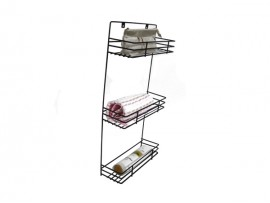 3 tiers wall mounted metal towel rack