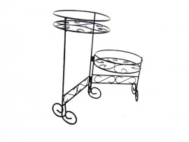 Two side foldable iron flower stand