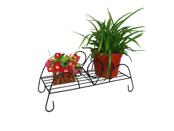 Counter Garden Metal Flower Pot Rack
