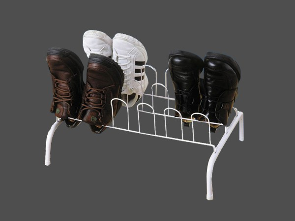 Floor metal wire shoes rack