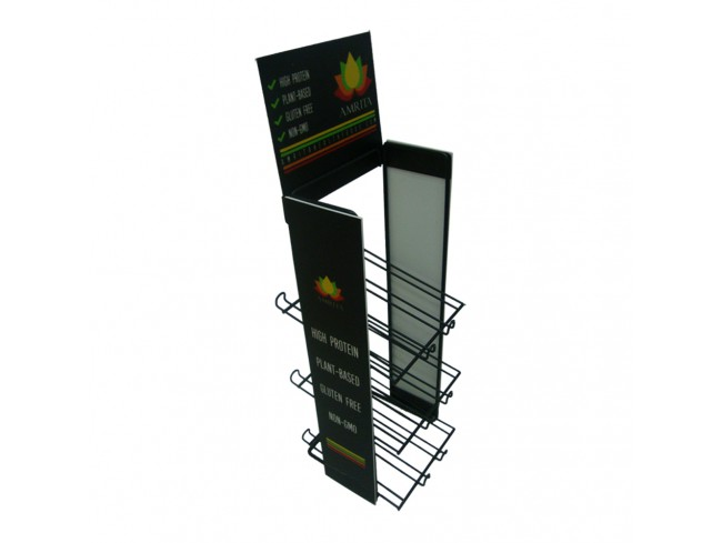 Retail Shop Counter Stand 3 Tiers Candy Rack