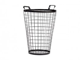 Metal wire waste bin