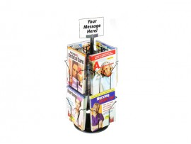2 tiers rotating card display shelf