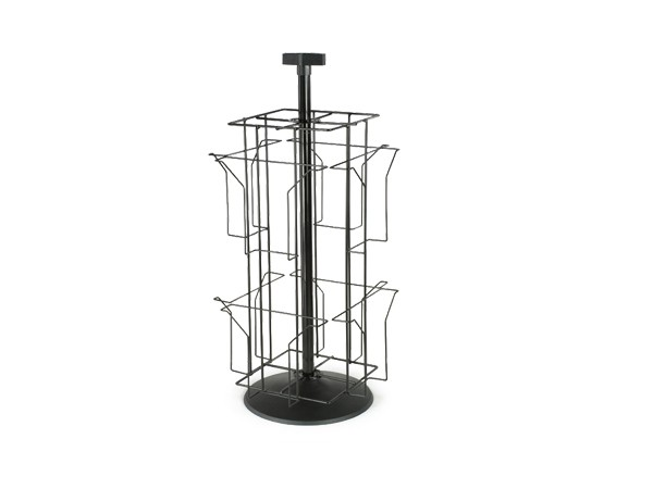 metal wire revolving display rack