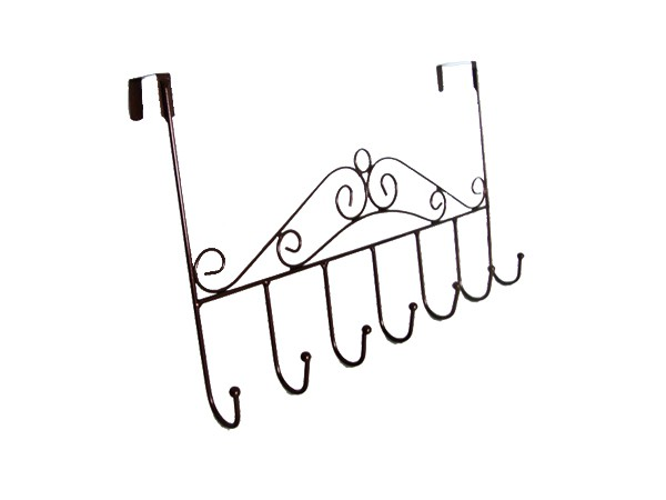 Metal wire coat hanger rack