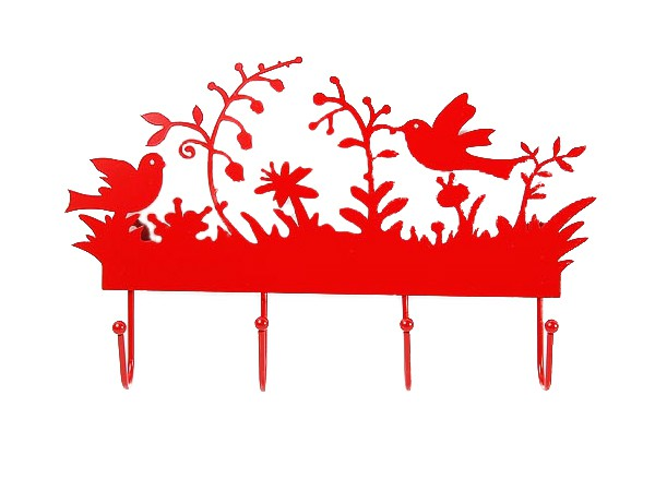 Red color clothes hanger rack