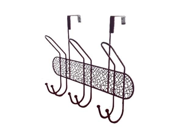 Wall mount metal coat hanger rack