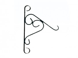 Wall mount hanging flower basket hook