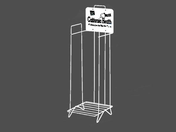 singel tier newspaper display rack
