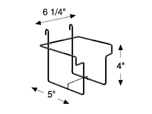 simple design metal magazine display rack