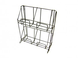metal sturdy newspaper rack