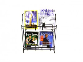 metal modern magazine display stand