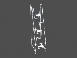 3 tiers metal magazine display rack