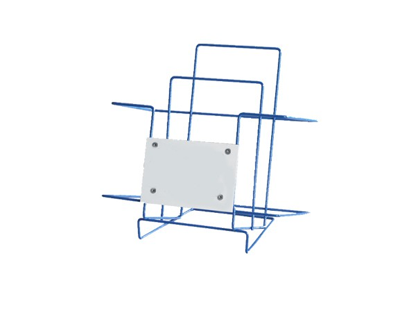 powder coated  metal blue magazine rack