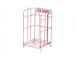 heavy duty single tier newspaper rack