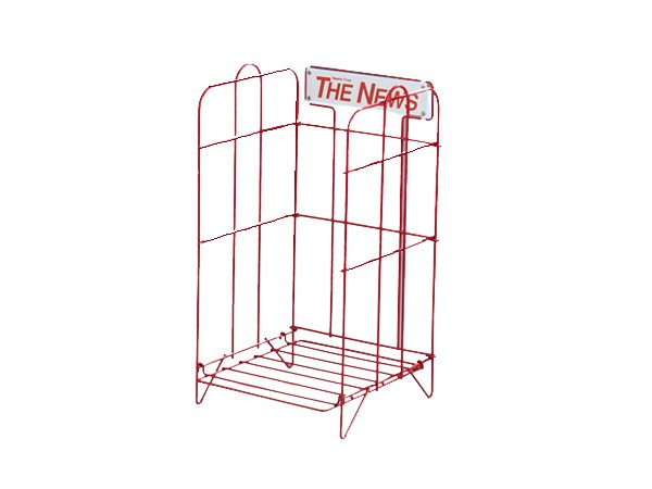 heavy duty single tier newspaper rack
