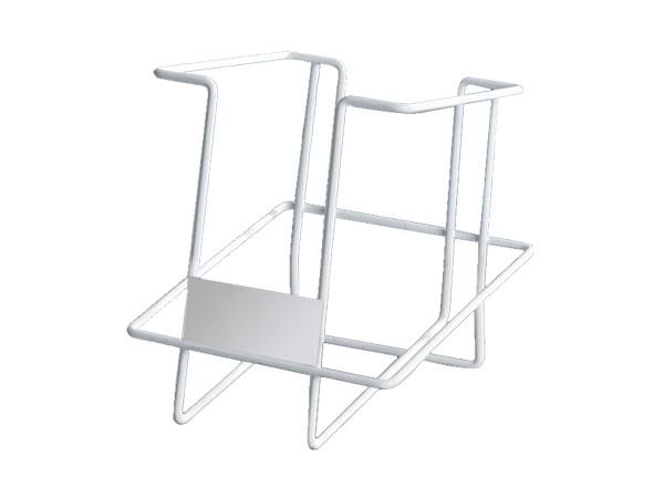 white metal simple design book rack