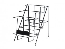metal black magazine rack