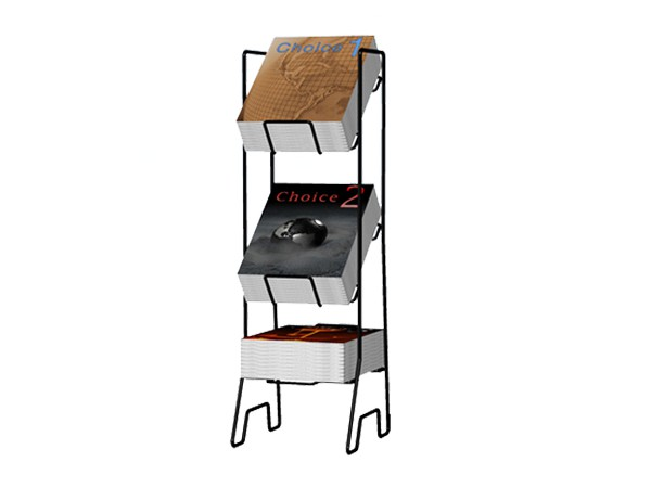 3 tiers book display rack