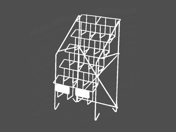 fancy design magazine display rack