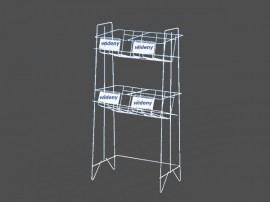 2 tiers magazine display rack